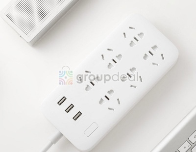 Удлинитель Xiaomi Mi Power Strip 6 розеток, 3 USB